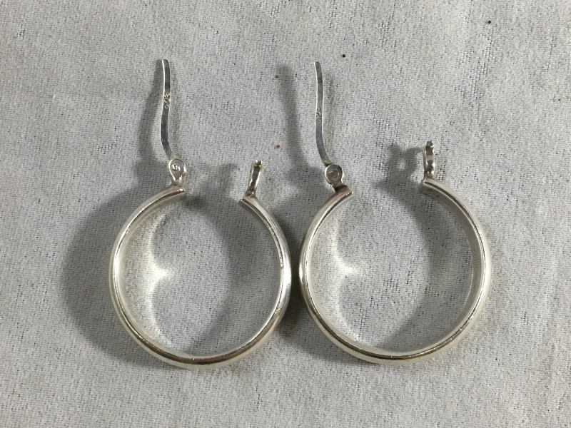 Silver Earrings 925 Silver 4.85g