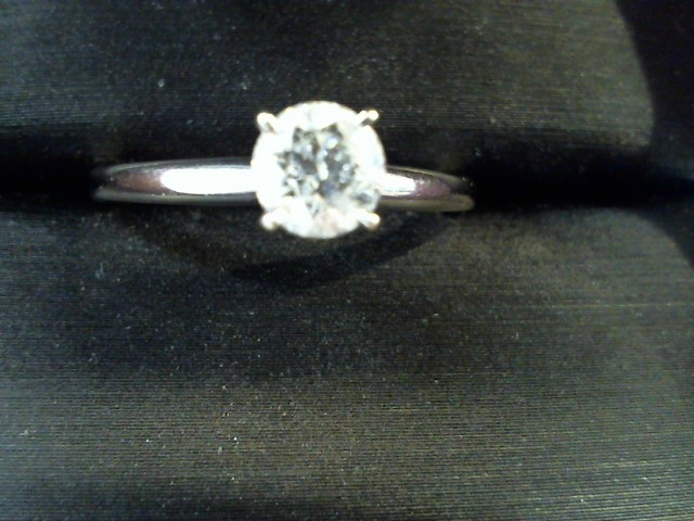 Lady's Diamond Solitaire Ring .50 CT. 14K White Gold 2.4g