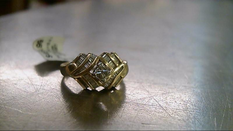 Lady's Diamond Engagement Ring 52 Diamonds .76 Carat T.W. 14K Yellow Gold 4.13g