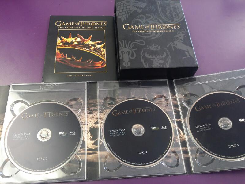 Game on Thrones Complete Second Season 2 on Blu-Ray/DVD