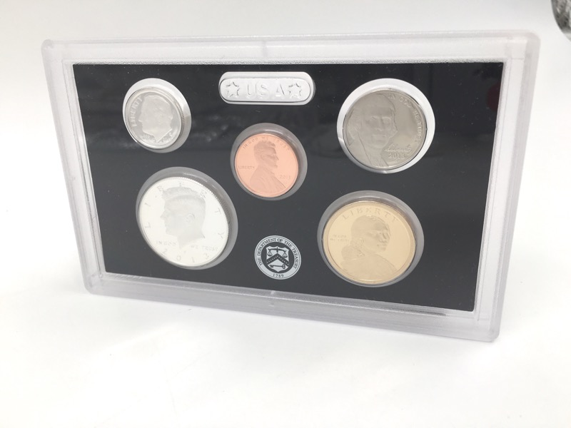 2013 United States Mint Silver Proof Set - With Orignal Box & COA