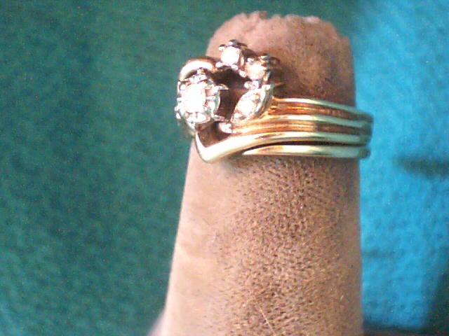 Lady's Diamond Wedding Set 6 Diamonds .08 Carat T.W. 10K Yellow Gold 3.2dwt