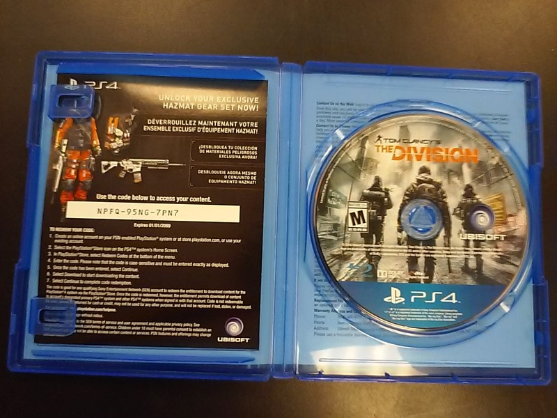 SONY Sony PlayStation 4 Game PS4 TOM CLANCYS THE DIVIION