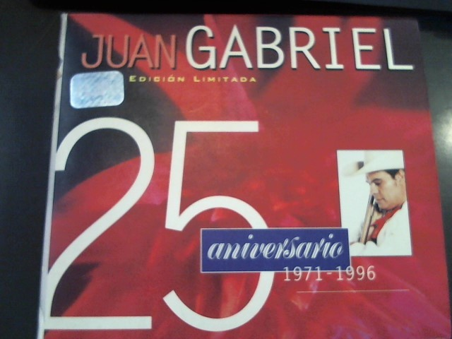 CD MUSIC BY TITLE CD JUAN GABRIEL 25 ANIVERSARIO