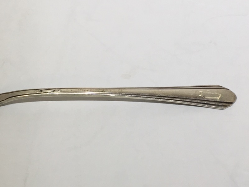 """Lady Diana by Towle Sterling Silver 6"""" Pickle/Olive Fork c. 1928 MONO"""