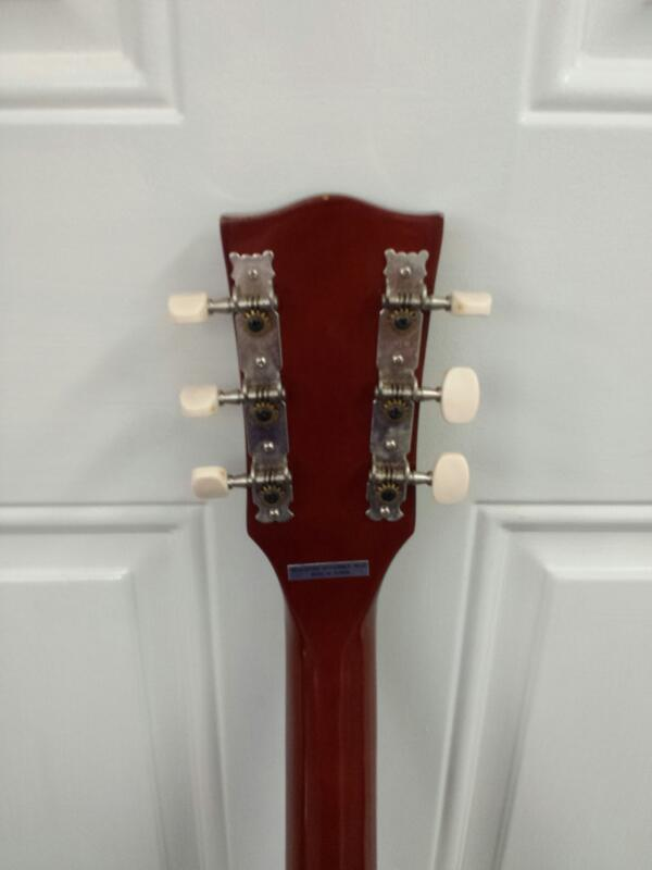 Custom Flat Top Les Paul Style Cherry Colored Wooden 6-String Electric Guitar