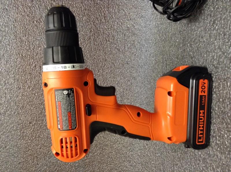 BLACK&DECKER Cordless Drill LD120