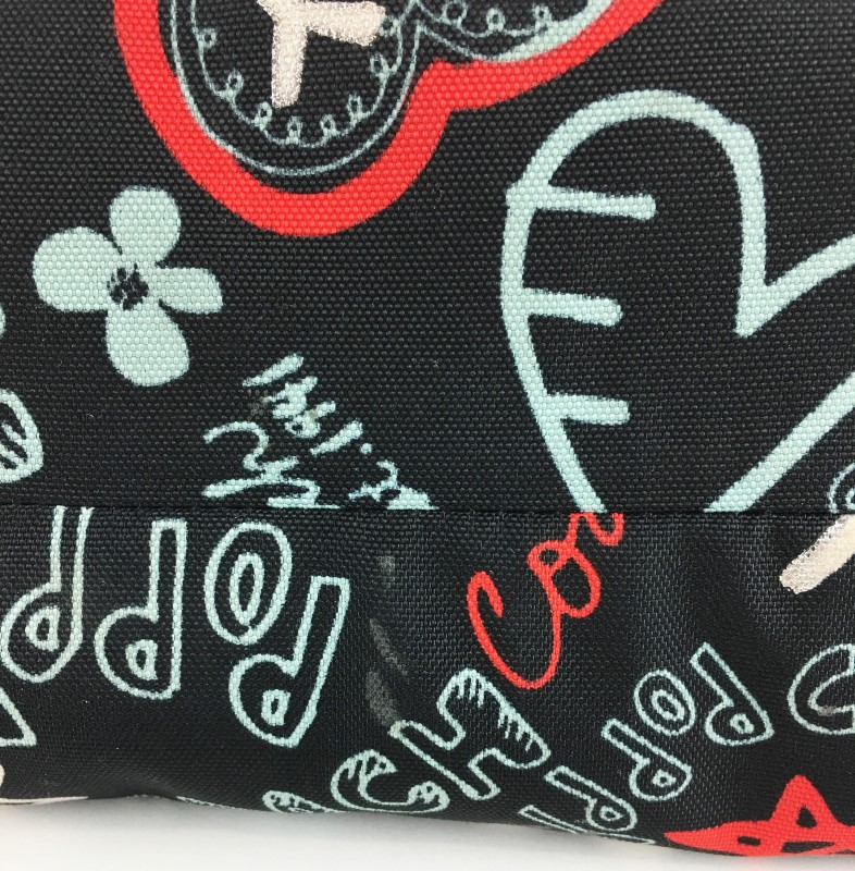 COACH POPPY HEART GRAFFITI GLAM TOTE 16052