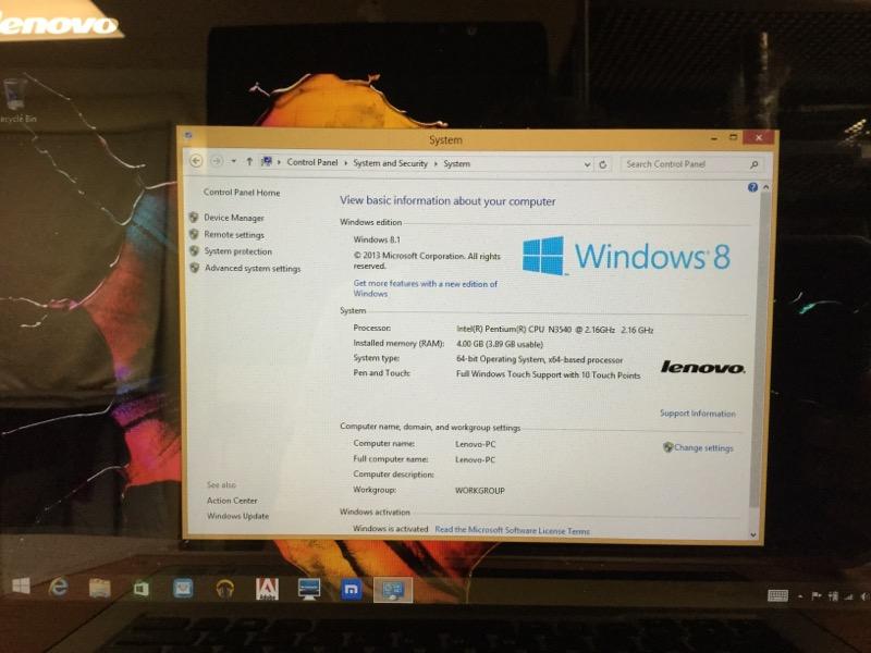 Lenovo Yoga 2 2.16GHz Intel Pentium, 500GB HD, 4GB RAM, Windows 8.1