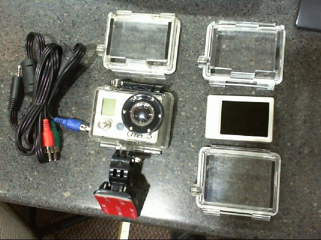 GOPRO HERO 960 HD Camcorder with Attachable LED Screen- Mount & Extra Cases