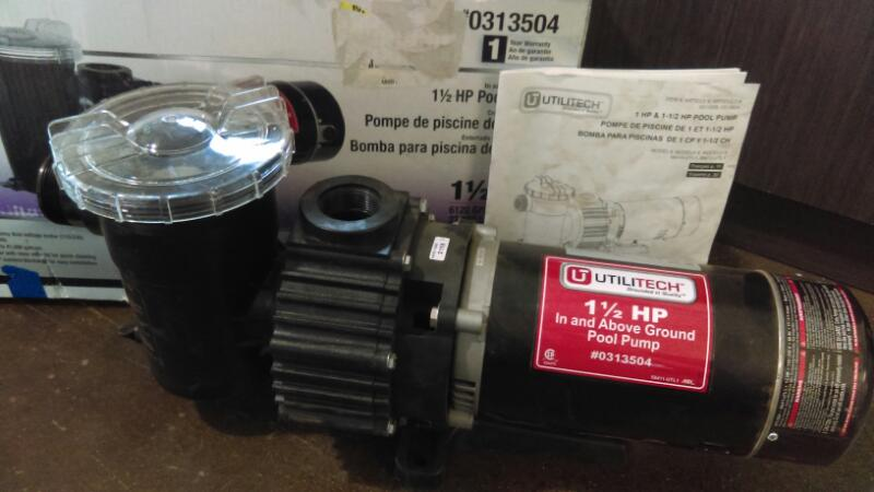 UTILITECH 1/2HP POOL PUMP WIP150