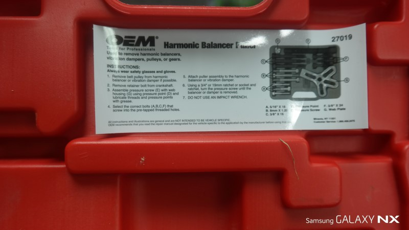 OEM COMPANY Misc Automotive Tool 27019 HARMONIC BALANCER PULLER KIT