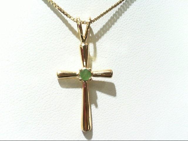 Emerald Silver-Stone Pendant 925 Silver 3.21g