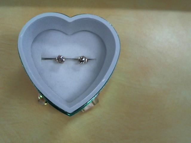 Gold-Diamond Earrings 2 Diamonds .20 Carat T.W. 14K Yellow Gold 0.05g