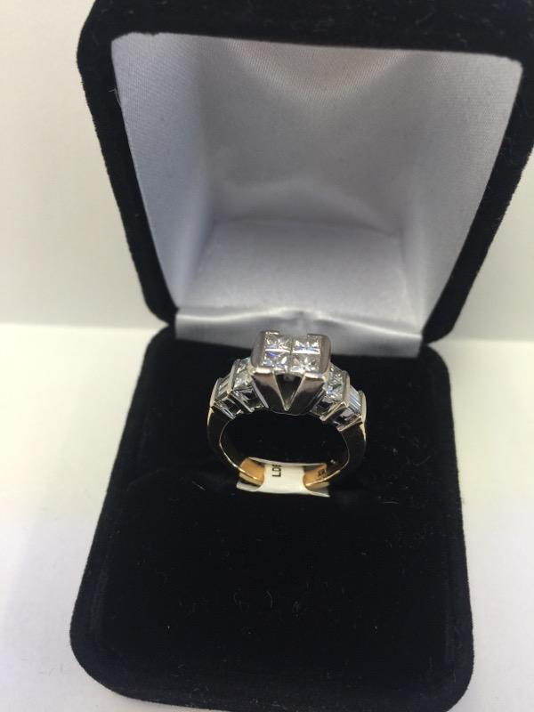 Lady's Diamond Fashion Ring 6 Diamonds .60 Carat T.W. 14K Yellow Gold 4.8dwt