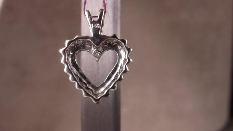 DIAMOND HEART PEND 1/2CTW 14KWG