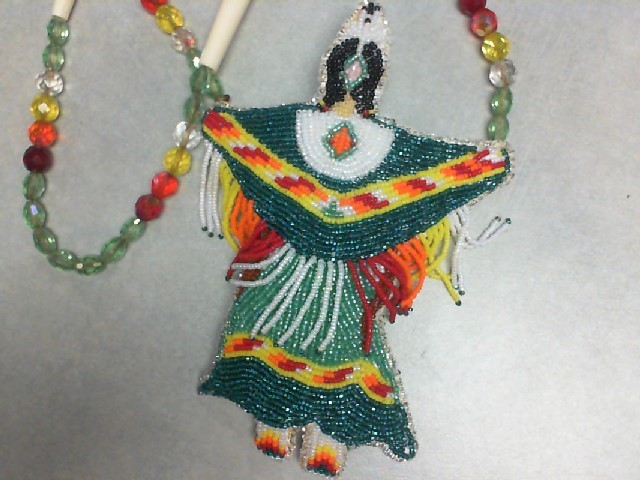 HAND BEADED NATIVE AMERICAN NECKLACE