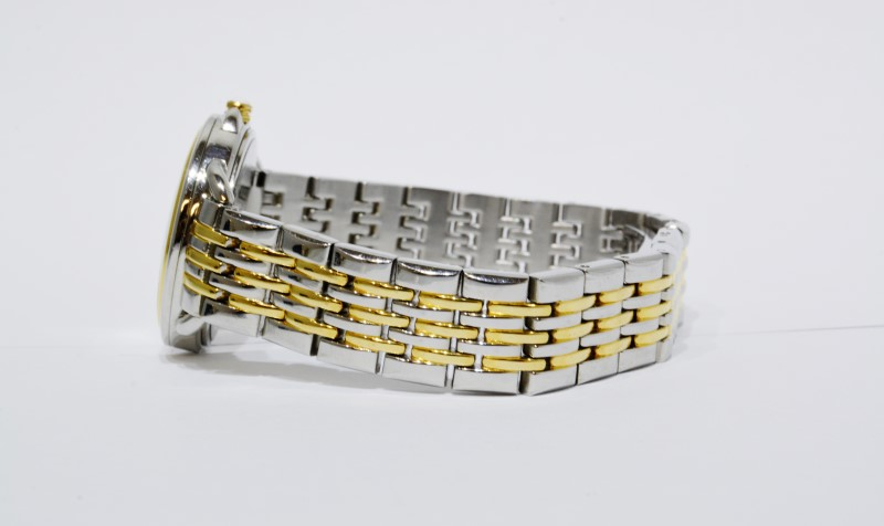 Bulova Women's Two Tone Silver Face Dress Bracelet Watch 98L165