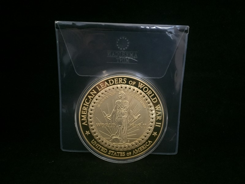 American Leaders of WWII Dwight D. Eisenhower Commemorative Coin (American Mint)