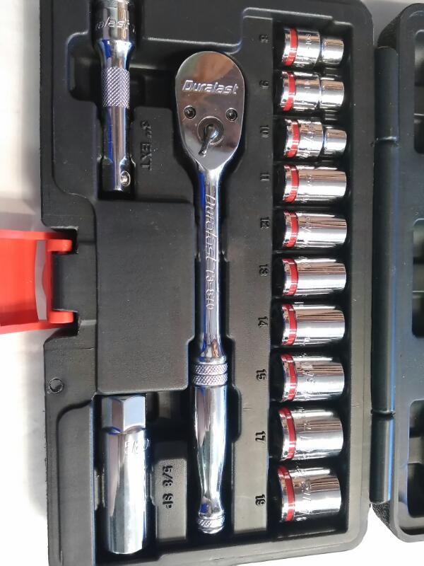 DURALAST Sockets/Ratchet 14 PIECE RATCHET SOCKET SET
