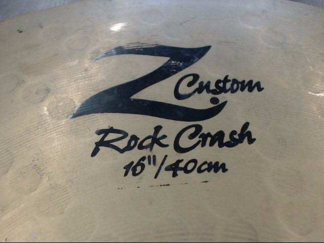 "ZILDJIAN Cymbal Z-CUSTOM ROCK CRASH 16""/40CM"