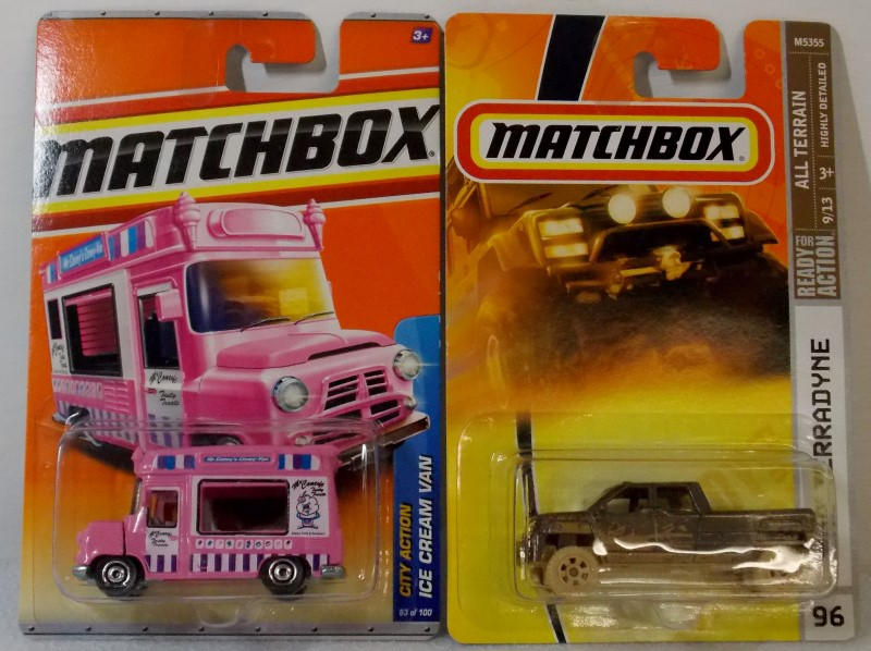 TWO MATCHBOX VEHICLES: ICE CREAM VAN AND GMC TERRADYNE