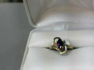 Amethyst Lady's Stone Ring 14K Yellow Gold 1.3dwt Size:6