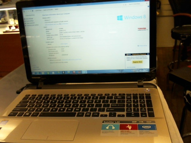 TOSHIBA Laptop/Netbook L55-B5276