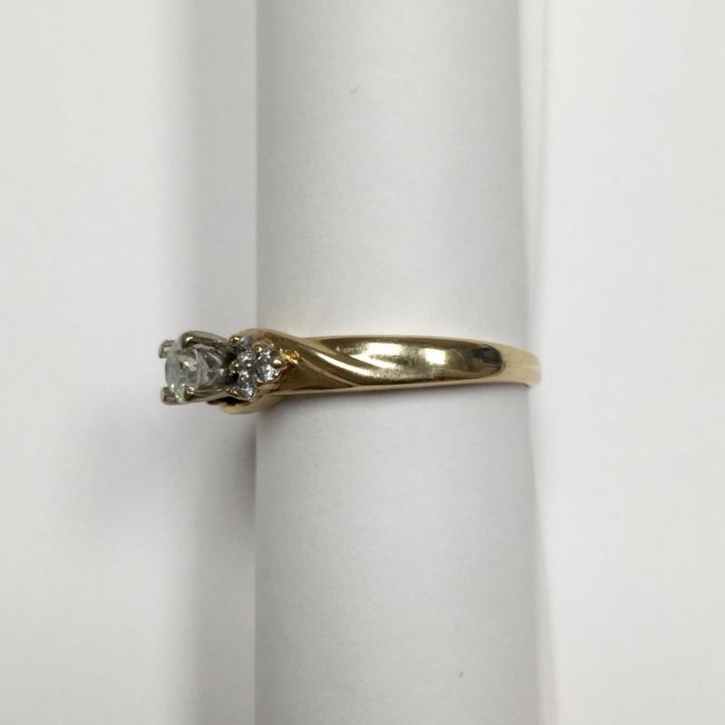 Lady's Diamond Engagement Ring 7 Diamonds .42 Carat T.W. 14K Yellow Gold 3.1dwt