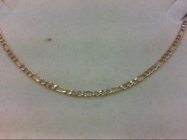 """18"""" Gold Figaro Chain 14K Yellow Gold 4.6g"""