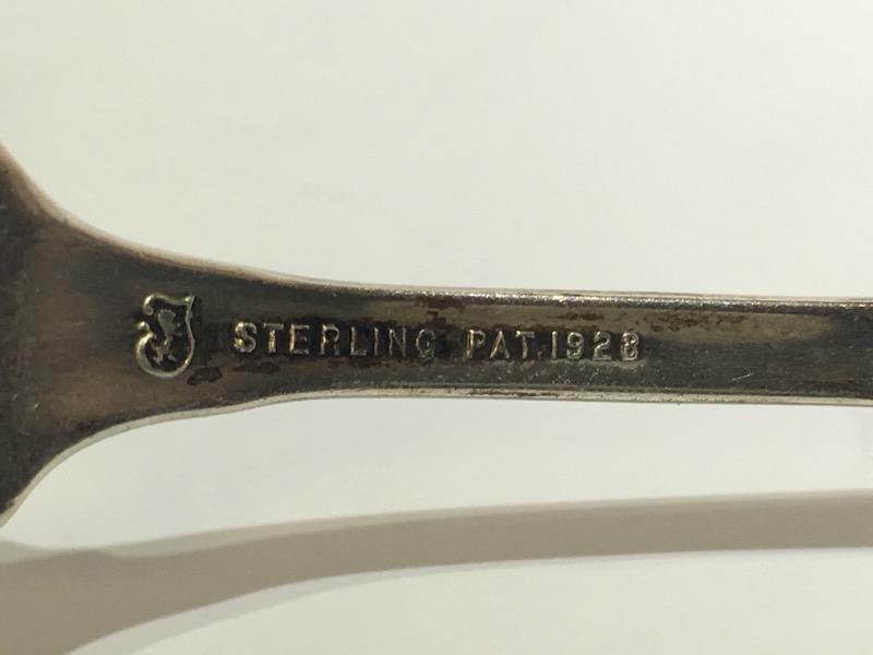 "Lady Diana by Towle 5-5/8"" Sterling Silver Lemon Fork c. 1928 MONO"