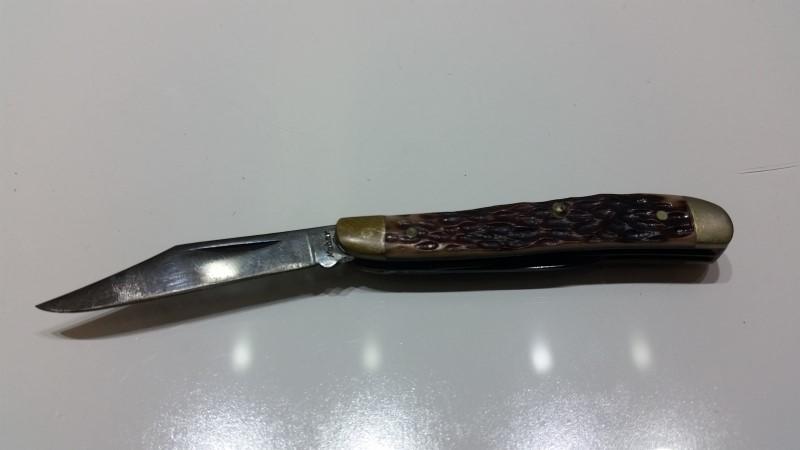 "Vintage Kabar 2-Blade 3"" Jigged Stockman Pocket Knife"