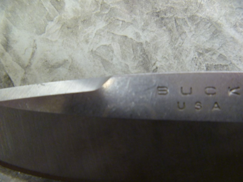 BUCK 285 CAMO KNIFE NO SHEATH