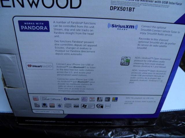 KENWOOD Car Audio DPX501BT