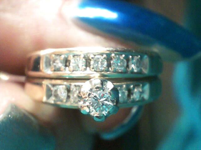 Lady's Diamond Wedding Set 10 Diamonds .25 Carat T.W. 14K Yellow Gold 2.8dwt