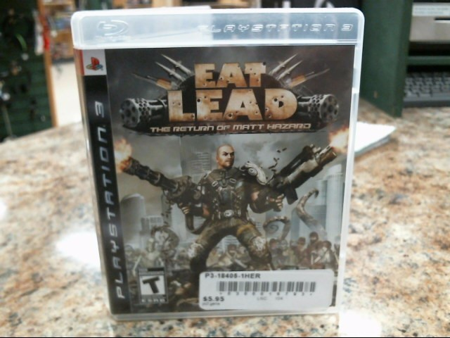 SONY Sony PlayStation 3 Game EAT LEAD:THE RETURN OF MATT HAZARD