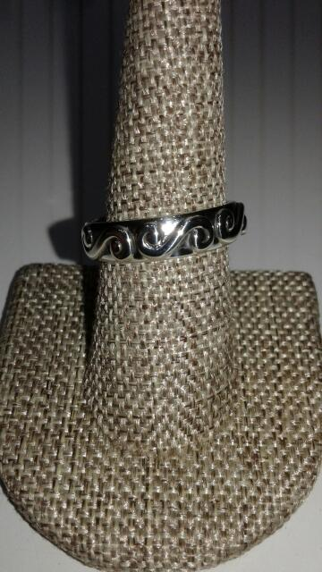 Lady's Silver Ring 925 Silver 4.1g Size:10