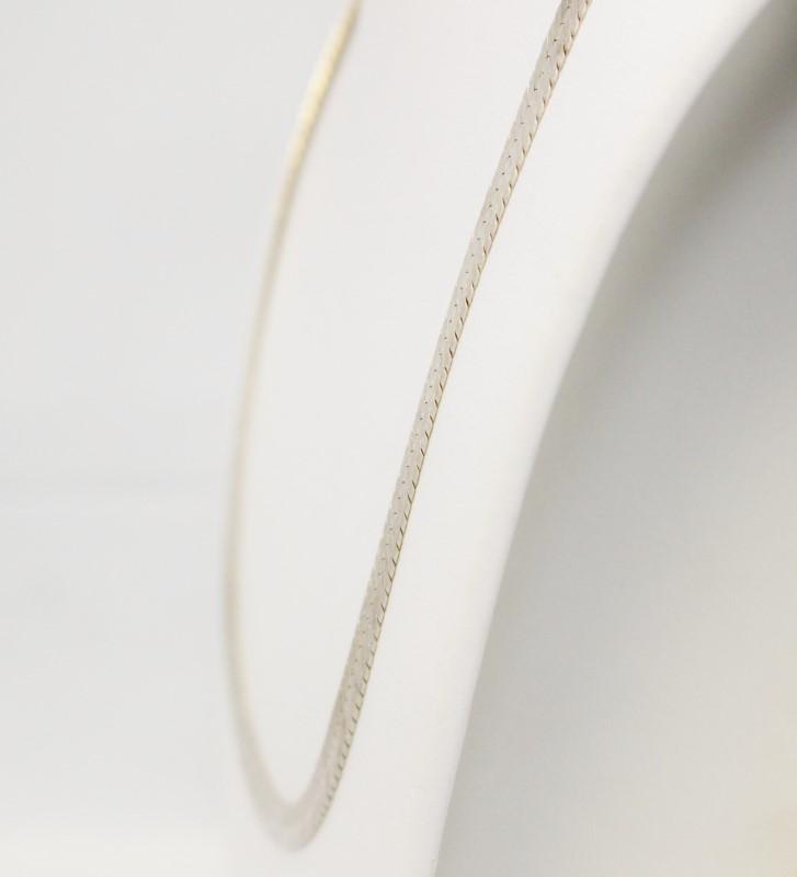 "18.5"" Sterling Silver Italian Herringbone Chain Necklace"