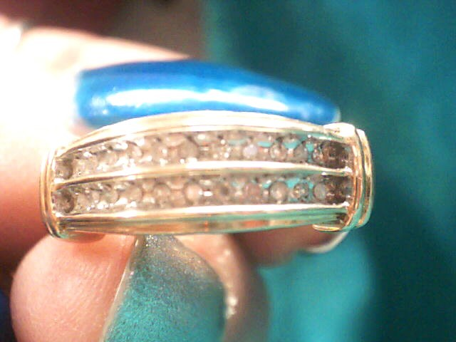 Lady's Diamond Fashion Ring 23 Diamonds .115 Carat T.W. 10K Yellow Gold 1.9dwt