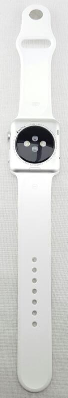 Apple MJ3N2LL/A Watch Sport 42mm Silver Aluminum Case - White Sports Band