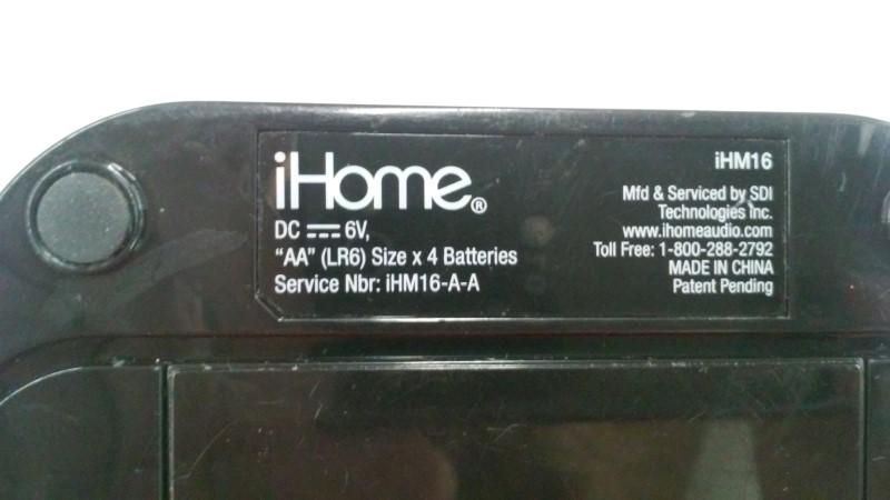 IHOME IPOD IHM16