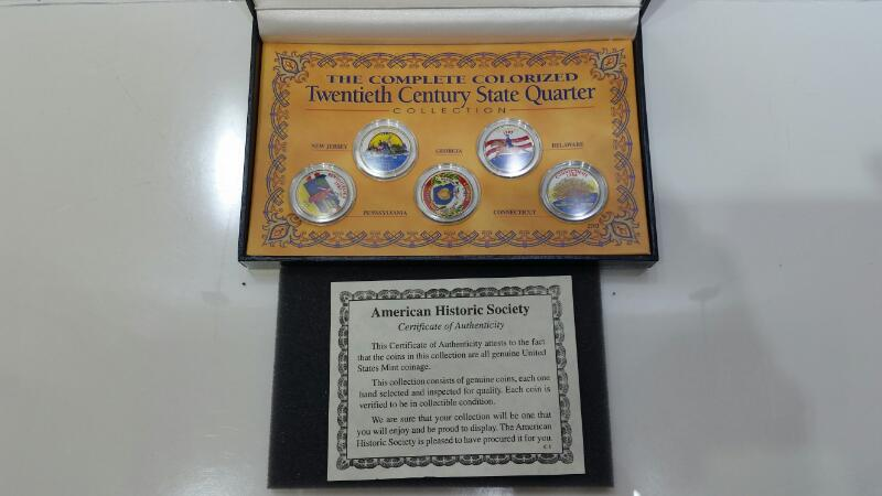 American Historic Society Colorized 20th Century State Quarter Collection
