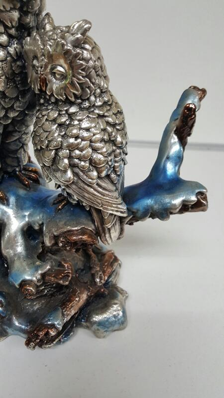 Glass Plate Owl Sculpture TC-107 325 Made in Mexico