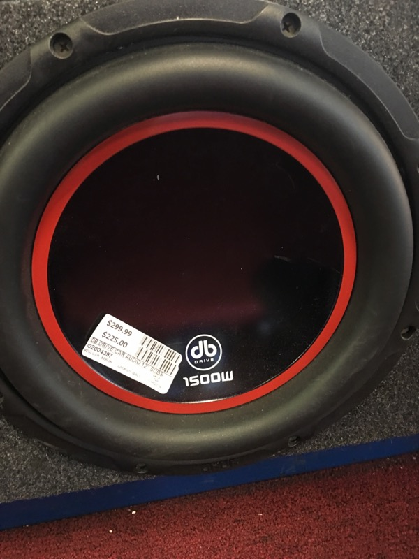 "DB DRIVE Car Audio 12"" SUBS"