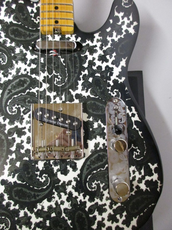 SIMS CUSTOM SHOP PAISLEY TELE STYLE ELECTRIC GUITAR