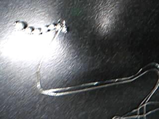Diamond Necklace 6 Diamonds .37 Carat T.W. 14K White Gold 1.91g