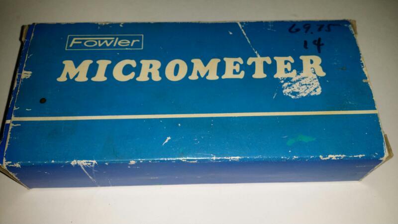 """Fowler Micrometer .0001 0-1"""" Made in Japan 52-222-001]"""