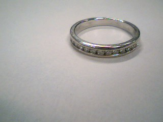 Lady's Diamond Wedding Band 13 Diamonds .26 Carat T.W. 14K White Gold 2.4g