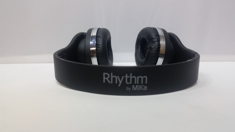 MiiKey Rhythm By Mika Black & Chrome Wireless Bluetooth Headphones
