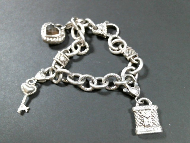 Judith Ripka Charm Braclet and Ring - STERLING -